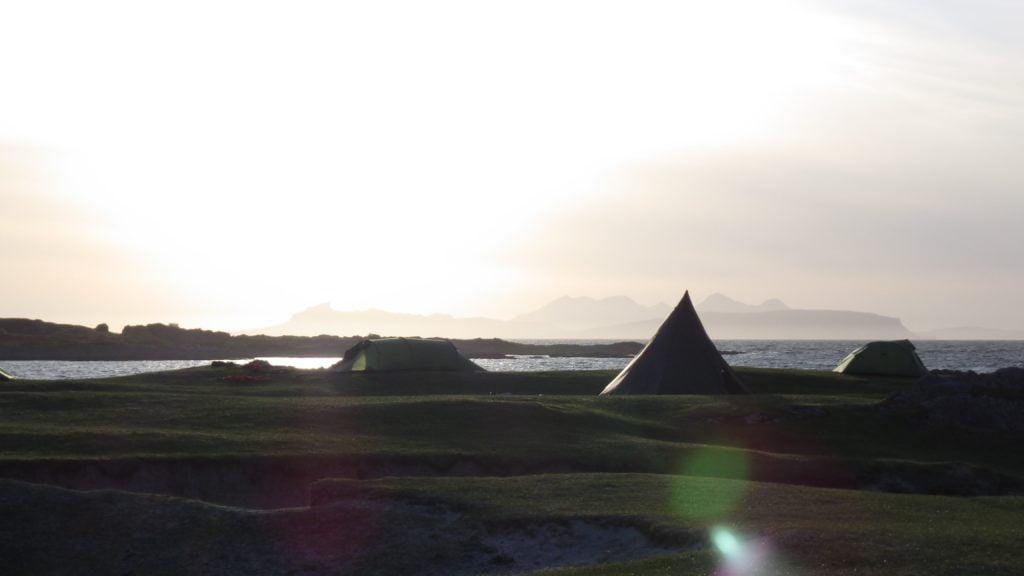 Wild camping Sound of Arisaig