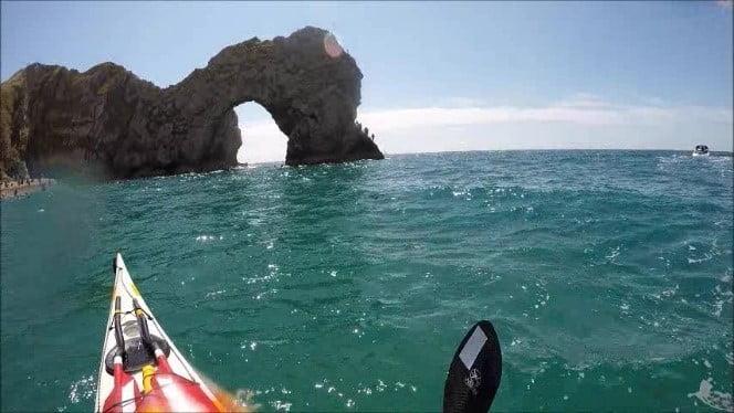 Sea kayaking the Jurassic Coast and Durdle Door