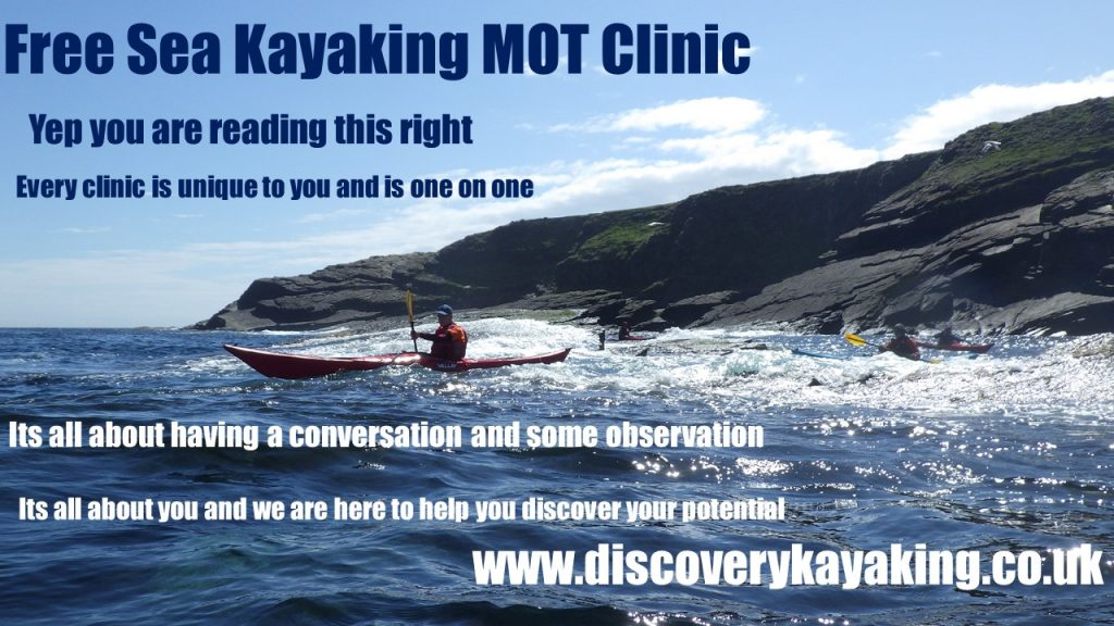 Free Sea kayaking Clinic on the South Coast with discoverykayaking.co.uk
