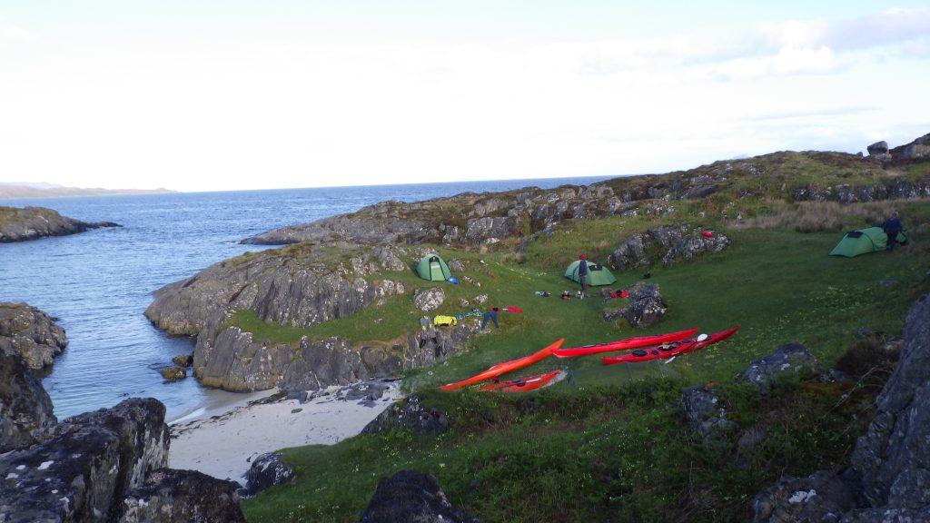 Sea kayaking wild camping with discoverykayaking.co.uk