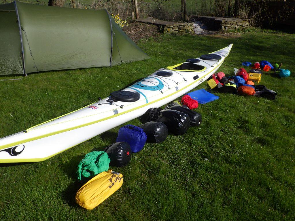 Sea kayak expedition packing