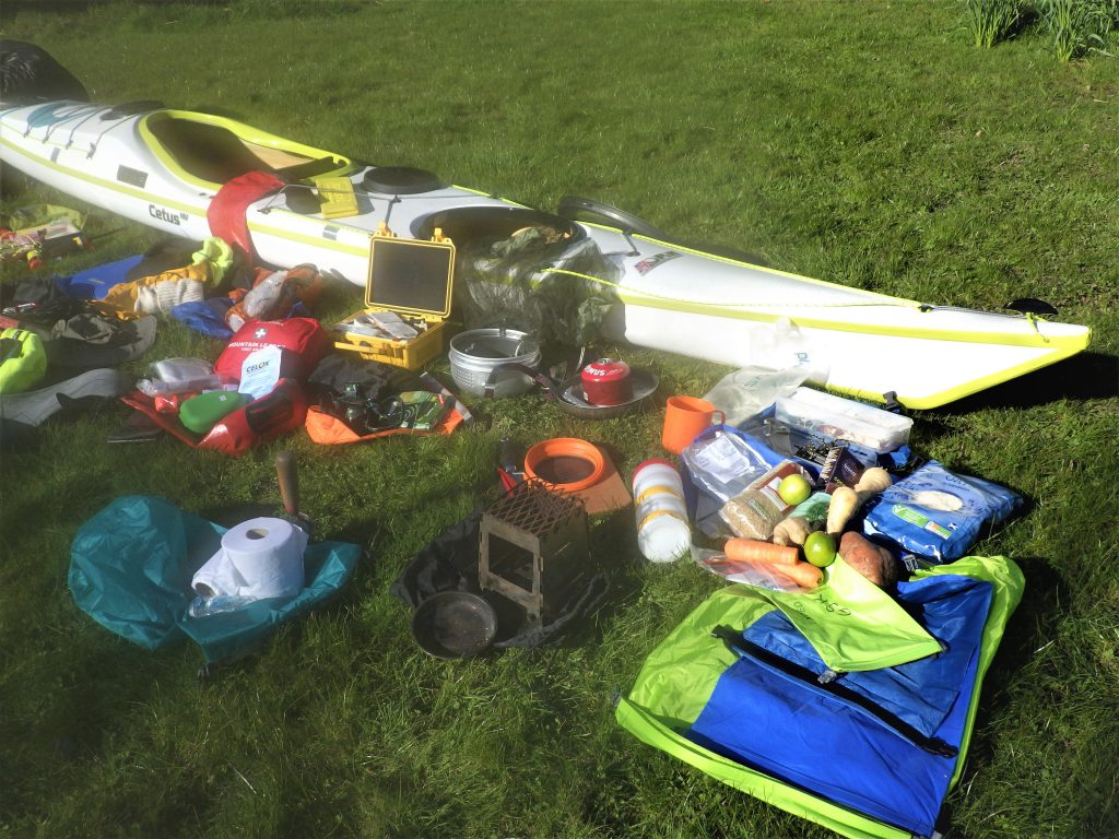 Sea kayaking rear hatch expedition equipment