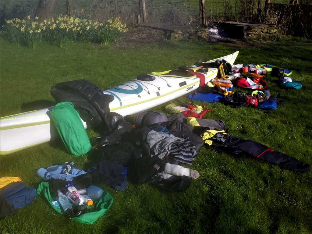 Full kit for Sea kayak expedition