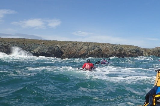 develop rough water skill in big seas