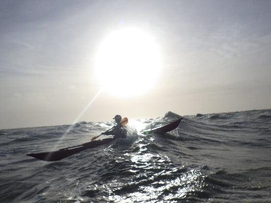 Sea Kayaking tide races Dorset